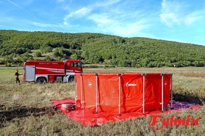 vasca antincendio mobile aib antincendio con struttura in alluminio