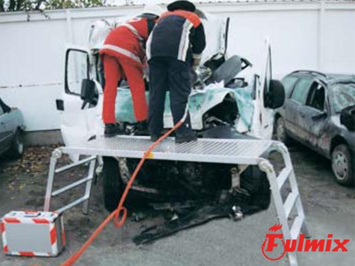 piattaforma di salvataggio per incidenti stradali