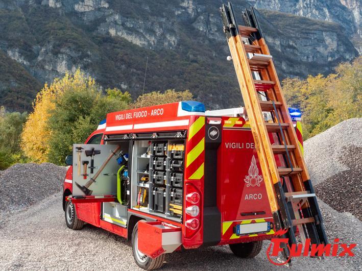 scendiscala in alluminio per scala italiana vigili del fuoco